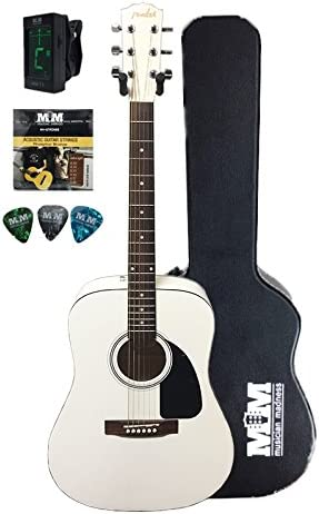 Fender FA-100 edición limitada blanco guitarra acústica: Amazon.es ...