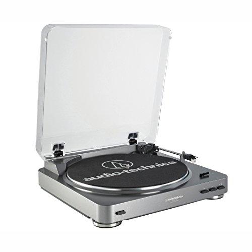 Audio-Technica AT-LP60BT – Tocadiscos (Tocadiscos de tracción por Correa, Negro, Aluminio, 33 1/3,45, 50 dB, 0,25%)