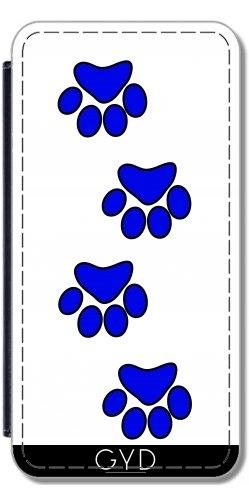 Funda Carcasa Cubierta de PU Cuero para Huawei P9 - Pata De Perro Azul. by loki1982