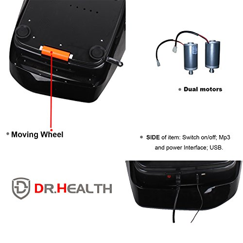 D Dr. Health 3D Body Vibration Platform Fitness Machine Dual Motor Black