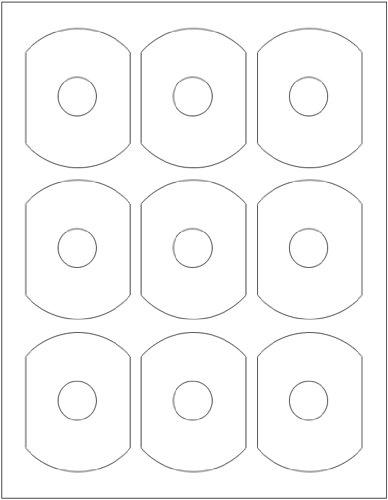 Matte Finish Business Card 9-Up CD Labels 450-Pak (50 sheets)