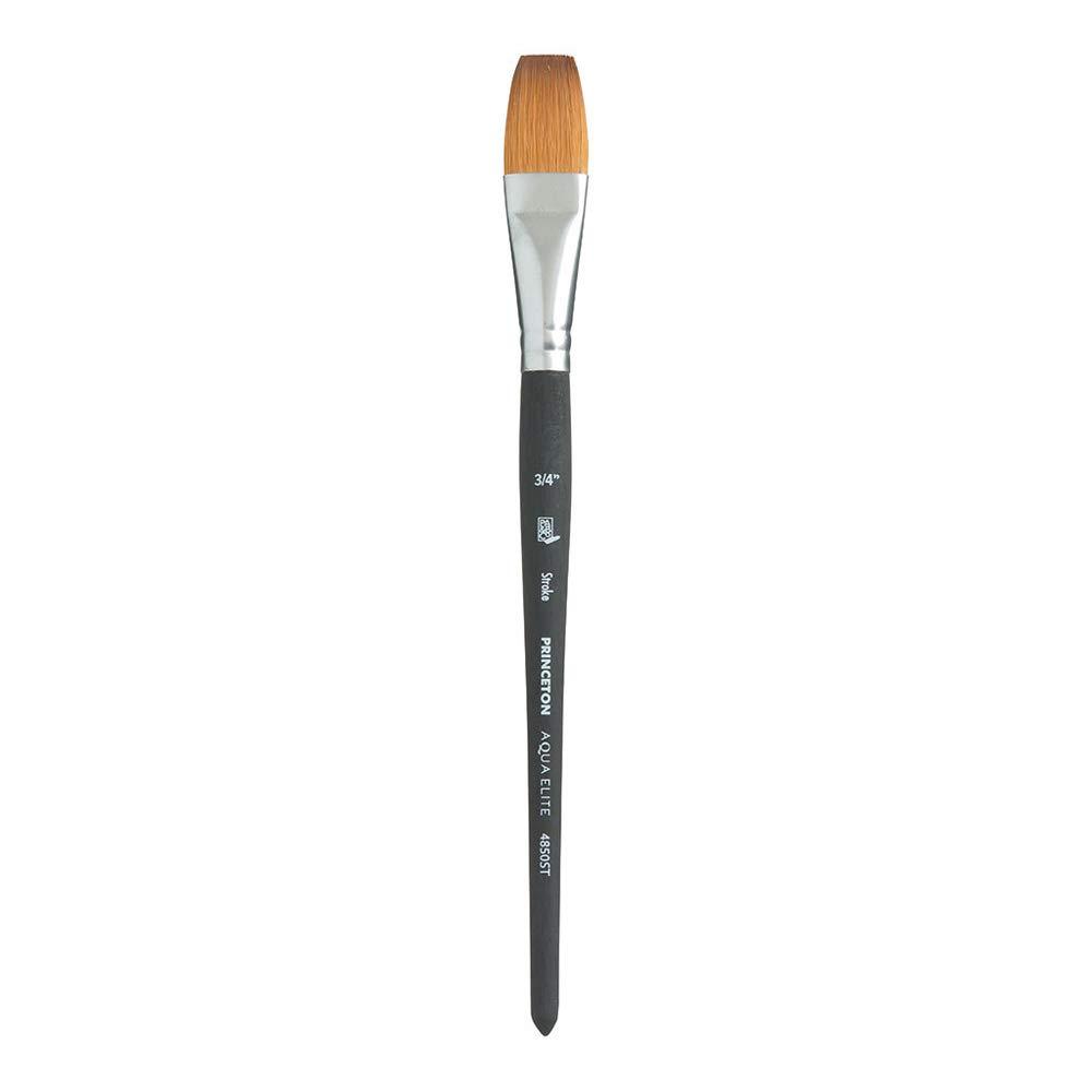 Princeton Aqua Elite NextGen Artist Brush, Series 4850 Synthetic Kolinsky Sable for Watercolor, Stroke, Size 3/4