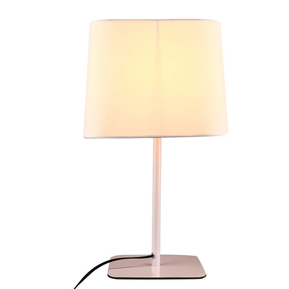 Sonmer Bedside Warm White LED Desk Lamp for Office Bedroom, E27 Base,Button Switch