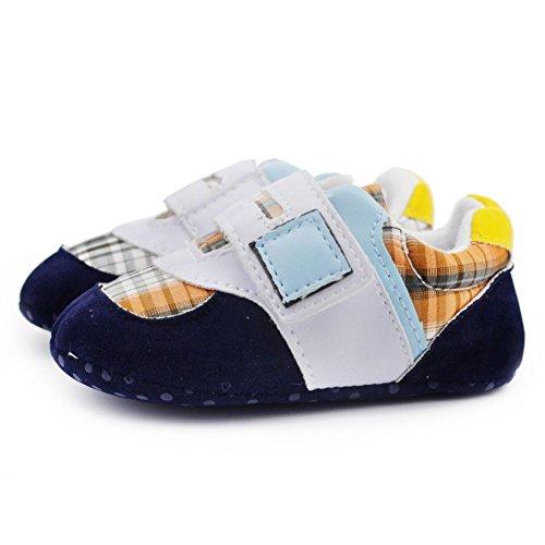 Brightup - Zapatos primeros pasos de Lona para niña Azul