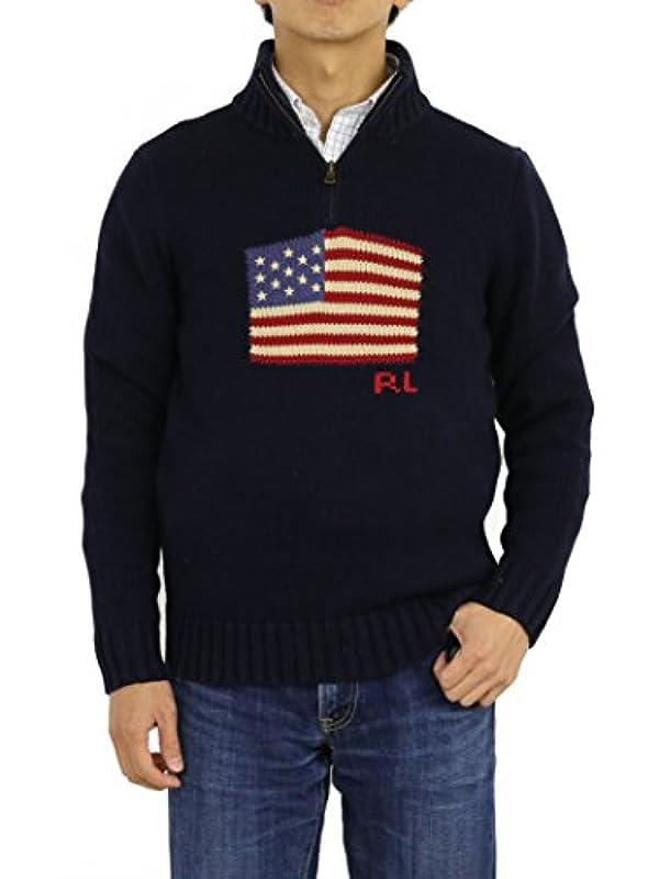 POLO Ralph Lauren 하프 ZIP 스웨터 니트 풀오버 0102564