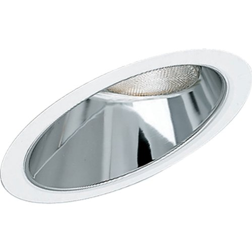 Progress Lighting P8001-21 Clear Alzak Finish Alzak Cones for Insulated Ceilings 9-3/4-Inch Outside Diameter, Specular Clear
