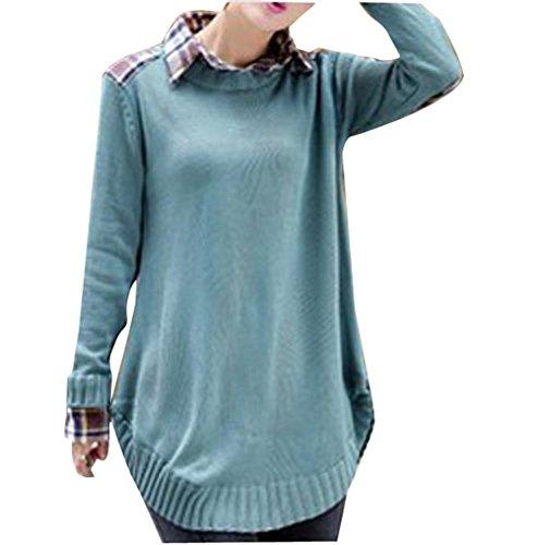 Gaorui - Camisa - para niña Azul