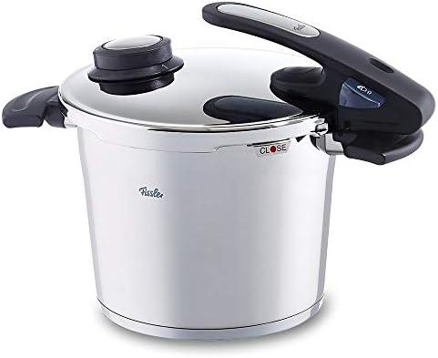 Fissler vitavit edition design / Olla a presión (6 litros, Ø 22 cm) de acero inoxidable, 2 niveles de cocción, apta para cocinas de inducción, gas, vitrocerámica y eléctricas: Amazon.es: Hogar
