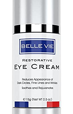 Belle Vie Restorative Eye Cream | Luxury Eye Cream | Advanced Vitamin K + Arnica Formula for Reducing Dark Circles, Puffiness, Fine Lines & Wrinkles | Soothes, Refreshes & Rejuvenates Skin