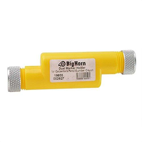 Lumber Crayon Holder - Big Horn 19855 Dual Marker Holder For Carpenter Pencil