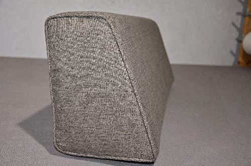 micama Wedge Bolster Cover (Linen-Graphite-Light)