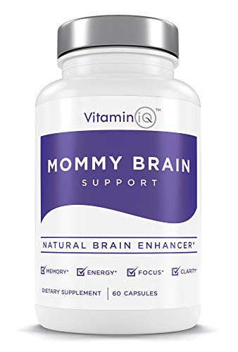 VitaminIQ Mommy Brain Postnatal Supplement - Womens Natural Support for Brain Health, Focus, Memory and Clarity | 60 Vegetarian Capsules| Made in USA