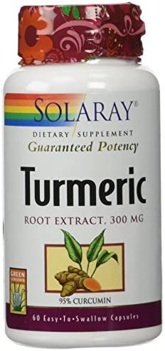 Solaray Turmeric Root Extract, 300 mg, 60 Count