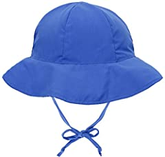 """Chin straps helpssecure hat on child during windy, bright days.Wide brim protectsyour little one's eyes from the sun.Ultra-soft &comfortable fit for all-day wearMaterial: 100% Polyester Size:S(0-12 Months) Inner Circumference: 19.3""""M(12-2..."""