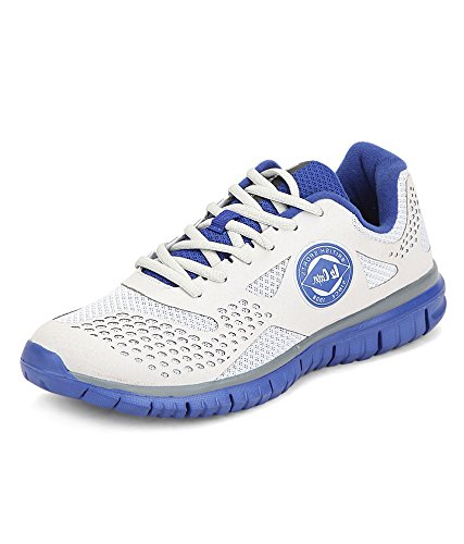 Grey and Blue Running Shoes
