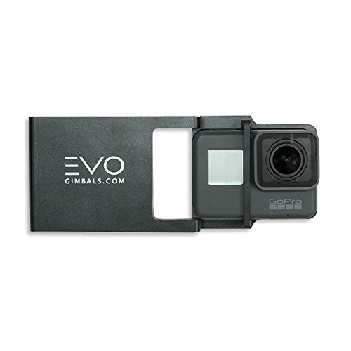EVO Gimbals Action Camera Adapter Plate for Smartphone Gimbals - Compatible with GoPro Hero3, Hero3+, Hero4, Hero5, Hero6 Black, Garmin Virb Ultra 30 and Yi Cameras