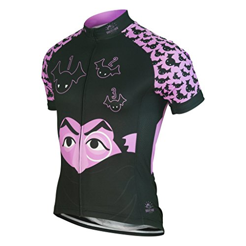 Brainstorm Gear Men's The Count Cycling Jersey - SSCO-M (The Count - (Sesame Street Vampire Laugh)