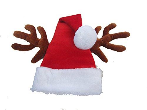 Santa Reindeer Antler Hat, Adult