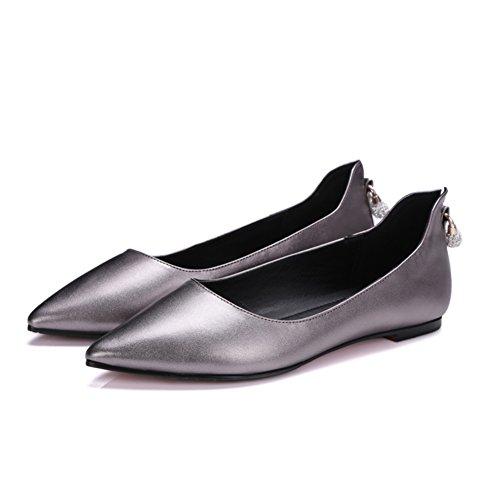 Comodidad plana zapatos asakuchi en primavera/Rhinestones coreanos puntiagudos Joker de zapatos B