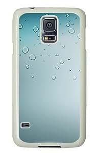 Samsung Galaxy S5 Case Cover - Drops Silicone Rubber Case Back Cover for Samsung Galaxy S5 - PC White