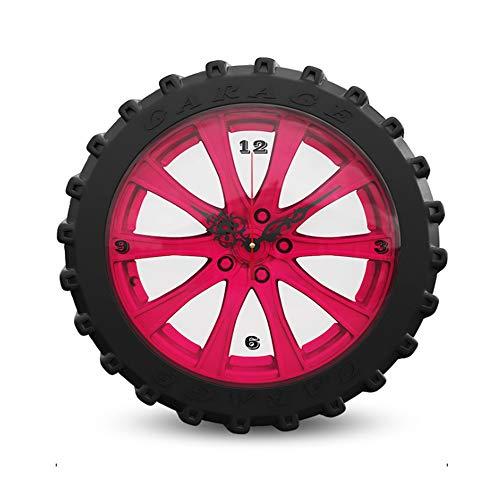 (Da-upup Decorative Wall Clock,16Inch Black Tire Wall Clock Silent Non Ticking Battery Powered Wall Art Home Decor (Black))
