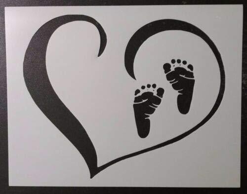 Harissa Plantilla para pies de bebé, diseño de Huellas en Forma de ...