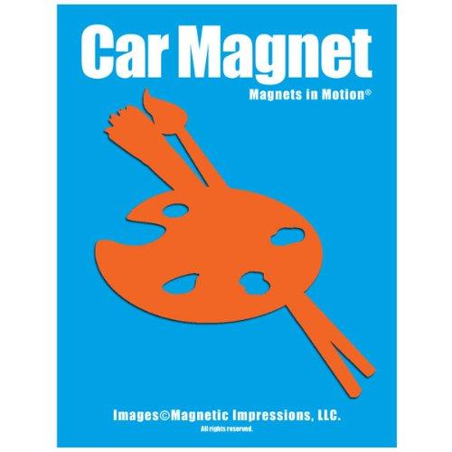 Artist Palette Car Magnet Orange (Artists Palette Magnet)