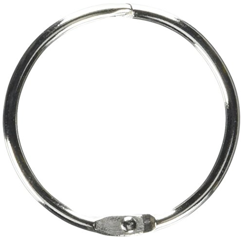 School Smart Nickel Plated Steel Loose Leaf Ring, 1-1/2 Inches, Pack of 100