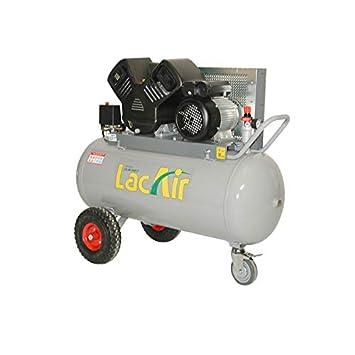 Lacme - Compresor de correa monoétagé 100 litros - 11 Bar: Amazon ...