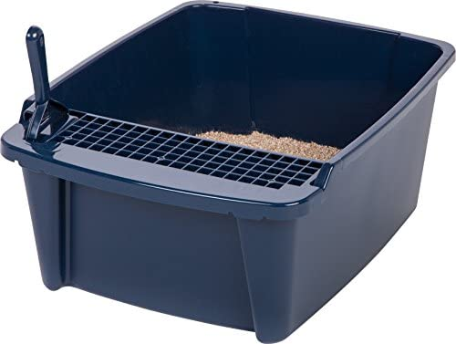 IRIS Large Navy Hooded Litter Pan
