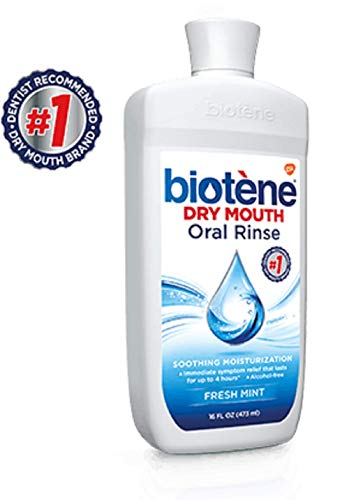 (Biotene Dry Mouth Oral Rinse, Fresh Mint 16 oz ( Pack of 2))
