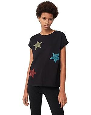 Mango Women's Star T-Shirt