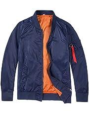 MADHERO Mens MA-1 Lightweight Bomber Jacket Slim Fit Soft Shell Windbreaker Casual Zip Up Flight Jacket