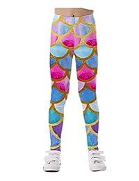 KIDVOVOU Girls High Waist Leggings Cute Patterns Great Stretch Legging Pants 4-11Y