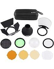Godox AK-R1 Pocket Flash Light Accessories Kit Compatible for Godox V1 Flash Series,V1-S V1-N V1-C etc Round Flash,use Godox H200R Round Flash Head Compatible for AD200 AD200 pro