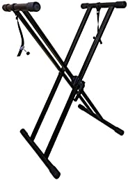 RockJam Xfinity Heavy-Duty, Double-X, Pre-Assembled, Infinitely Adjustable Piano Keyboard Stand with Locking S