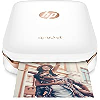 HP Sprocket Portable Photo Printer, X7N07A, Print Social...