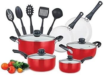 Diamond Home 15-Piece Non Stick Ceramic Cookware Set