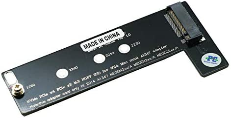 Sintech M.2 NGFF NVMe SSD Card for Upgrade Mac Mini Late 2014 Year A1347 MEG Series