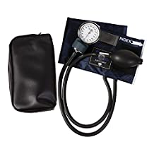MABIS CALIBER Series Aneroid Sphygmomanometer Manual Blood Pressure Monitor with Calibrated Blue Nylon Arm Cuff and Carrying Case, Cuff Size 7.7 to 11.3 Inches, Child