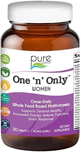 Pure Essence Labs One N Only Multivitamin for Women - Natural One a Day Herbal Supplement with Vitamin D, D3, B12, Biotin - 30 Tablets