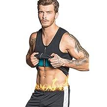 Men Neoprene Vest Weight Loss Shapewear slimming Body shaper Top Hot Sweat Shirt