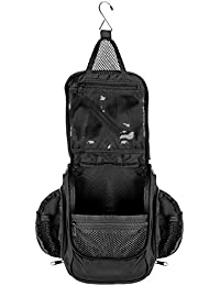 Compact Hanging Toiletry Bag, Personal Organizer | Water Resistant, Mesh Pockets & Sturdy Hook