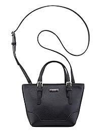 Nine West Womens Mini Ava Convertible Satchel Crossbody Handbag