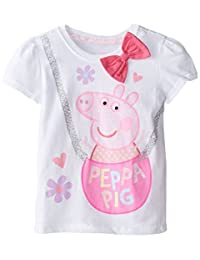Peppa Pig Girls' Short Sleeve Tee Shirt