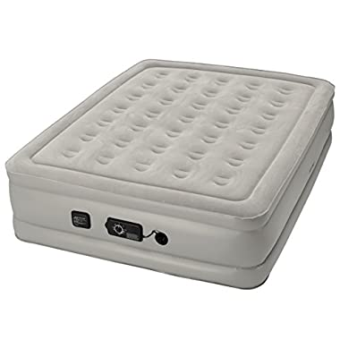 Insta-Bed Raised Air Mattress With Never Flat Pump, Grey, Queen