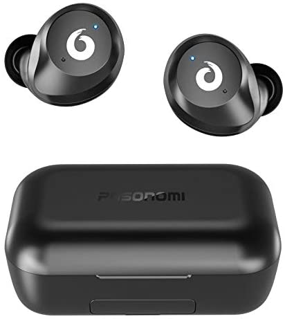 Bluetooth Earbuds Wireless Earbuds Bluetooth 5.0 Headphones Wireless Earphones, Stereo IPX7 Waterproof Wireless Earphones with 2200mah Charging Case/Box, Built-in Microphone