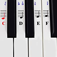 Piano Stickers for 49/61/ 76/88 Key Keyboards –...