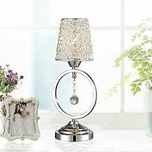 Aluminium Wire Lampshade Crystal Table Lamp Desk Lamps Mini Table lights E14 LED Bulb