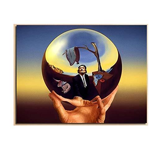WJWGP Salvador Dali Magia Bola De La Lona Imprimir Pintura Salon Sala Inicio Decoracion Moderno Pared Arte Surrealismo Poster GaleriA Cuadros Obra De Arte 50x70cm No Marco